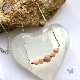 Sunstone Bar Necklace